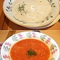 海鮮巧達濃湯+田園風蕃茄蔬菜濃湯,各149円而已!還不錯喝~