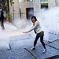 亀の噴水   其實是噴水霧+爆破音效!
