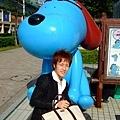 與富士電視台的吉祥小藍狗合照是一定要的啊