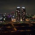 美麗的夜景  左邊可以看到小小的東京鉄塔  還有摩天輪倒影喔
