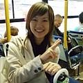 坐公車這麼難得的事,拍照留念是一定要的!