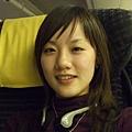 看得出來我臉已經紅了嗎? 坐飛機也是會醉的!