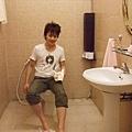 廁所也很乾淨,只可惜水量不大