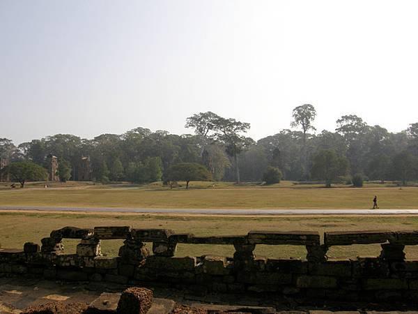 東邊是超寬闊的草地,一直到樹林再過去都仍是大吳哥的範圍喔