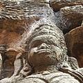 石雕的臉被蜘蛛當成棲息處