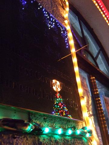 小小的倒影聖誕樹