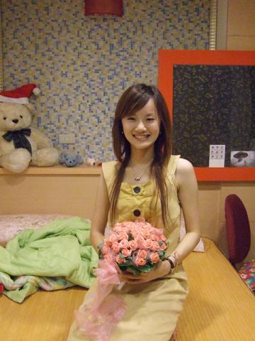薛老師的新娘捧花唷!