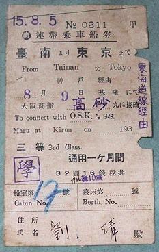 這張票好完美,可惜早了68年