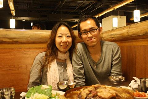 2/8  我回國的第一次聚餐吃韓國烤肉吃到飽耶!