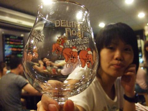 粉紅大象特釀啤酒專用杯,就古稚~