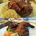 德國豬腳、歐式烤雞都是要先預約的唷,不得不說實在好吃!