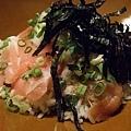 拼克和我都點黑鮪魚生魚片山藥丼,台南真的極少有這道料理,感動