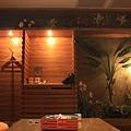 客廳另一面是茶水間與小造景,不是很特別