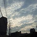 今天黃昏的天空模樣
