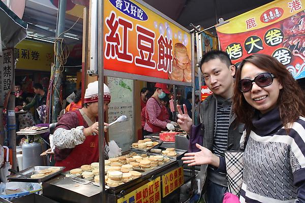 來這裡除了看廟不外乎是吃,路上順便連紅豆餅也買了