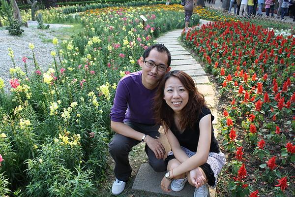 三人好有情趣 下午到台南公園賞花
