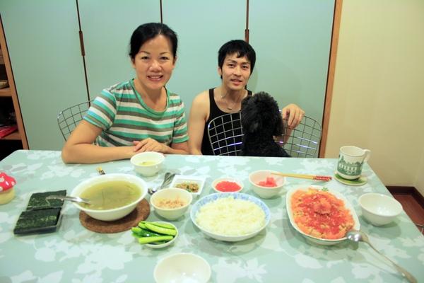其實還做了DIY手捲壽司的配料和湯