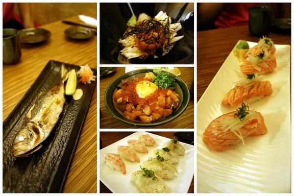 這次點的每一道也都很好吃,最中間海鮮丼美拍呷唷!