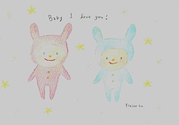 2 rabbit baby