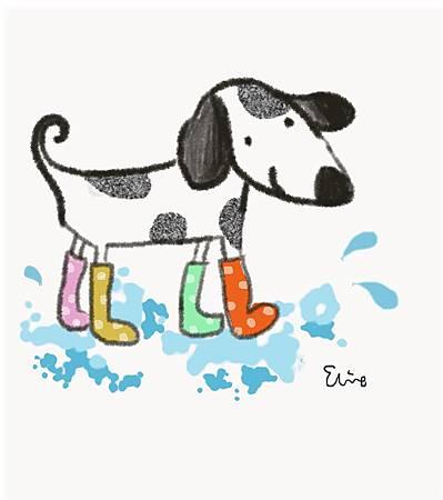穿雨靴的狗