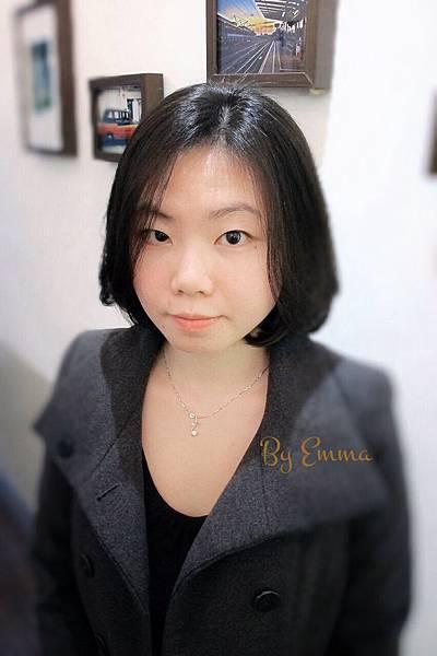 女生短髮溫塑燙