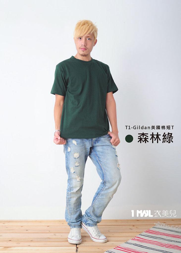 T1-Gildan美國棉-森林綠.jpg
