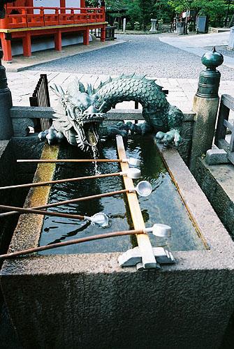 清水寺前的洗手台