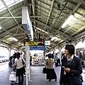 非常像台南火車站的京都車站月台