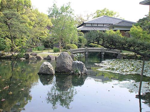 四天王寺中的庭園