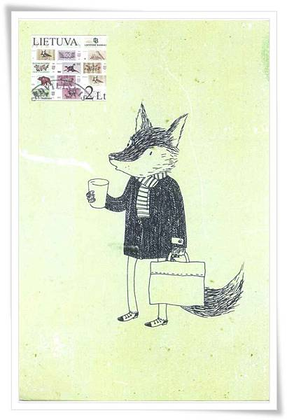 fox with cofe1