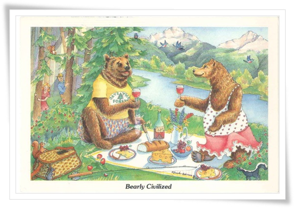 bearly civilized