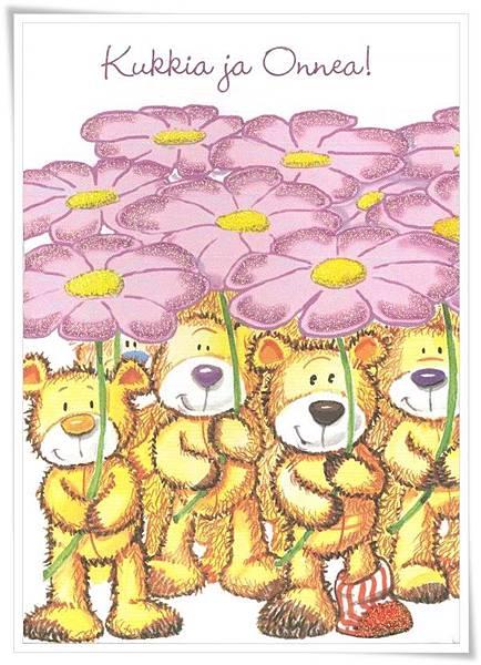 kukkia ja onnea