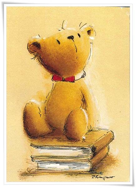 teddy sit on books.jpg