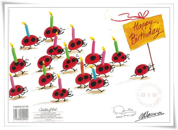 JOYEUX ANNIVERSAIRE/HAPPY BIRTHDAY