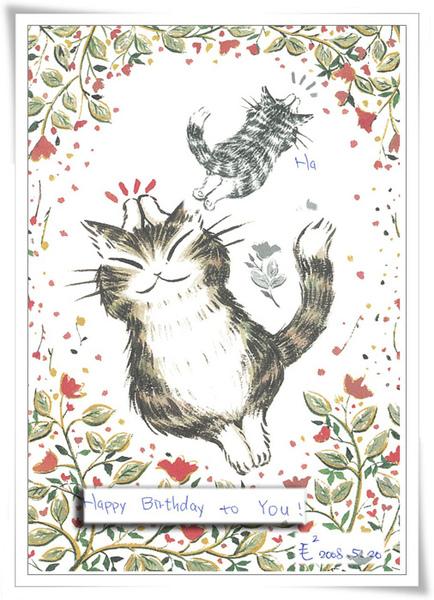手繪小花貓