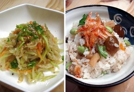 栗子炊飯&涼拌蒲瓜 001a.JPG