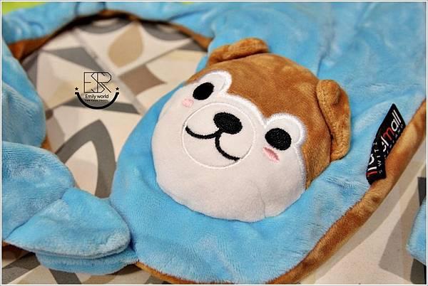 兒童Mini手動旅行充氣枕-柴犬特別版 (8)