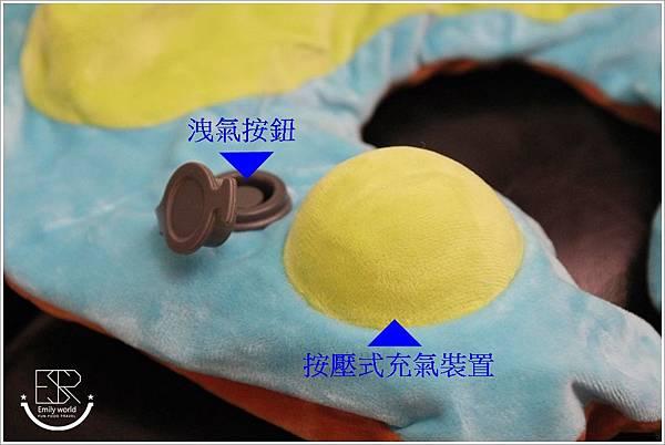 兒童Mini手動旅行充氣枕-柴犬特別版 (12)