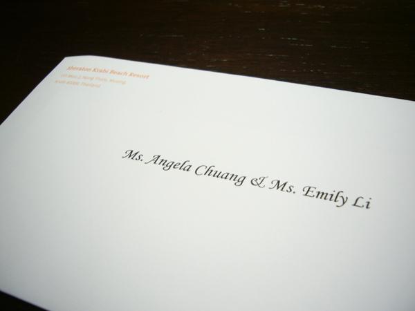 到飯店時…在桌上看到一封信!