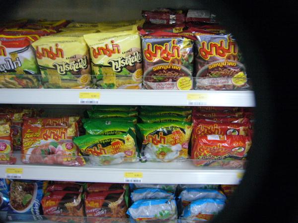 泡麵…泰式酸辣口味居多