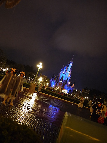 晚上的城堡!