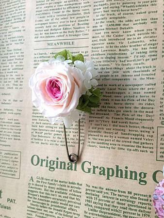 庭園玫瑰胸針1