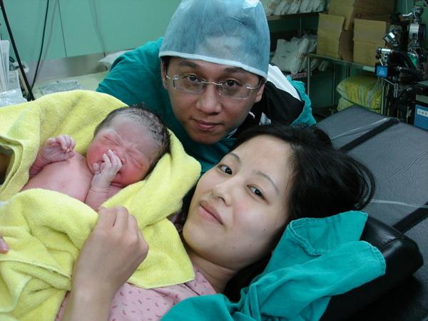 我的寶貝出生了