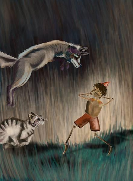 欺騙皮諾丘的狐狸與貓