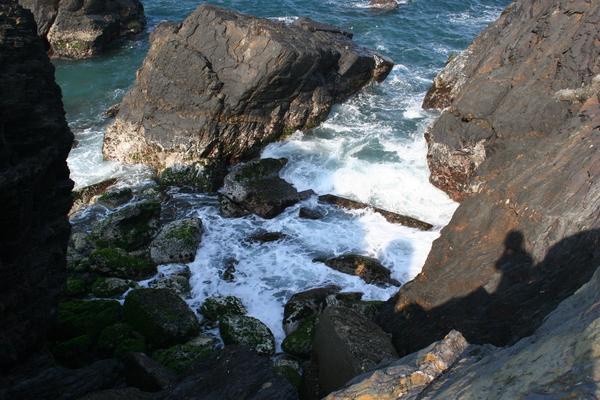 這是豆腐岬的岩岸!
