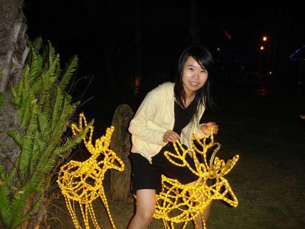 小惠在騎縻鹿