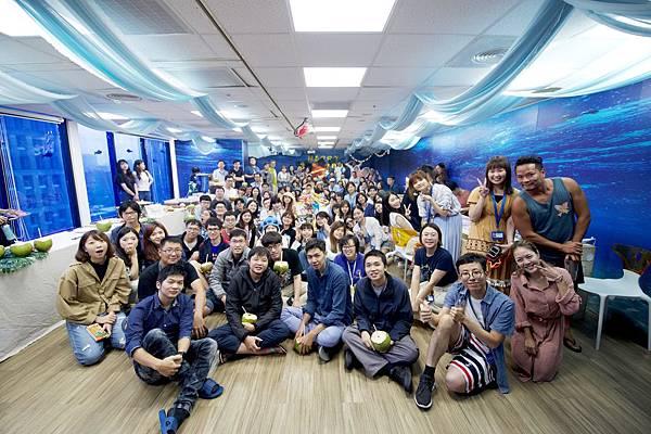 歡慶創立16週年,PIXNET舉辦海洋主題派對邀集全體同仁參與.jpg