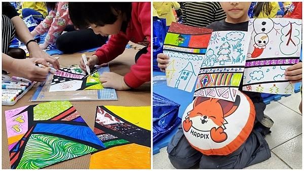 PIXNET 今年聖誕送暖公益活動,透過集體繪畫創作啟發孩子們的創意。.jpg