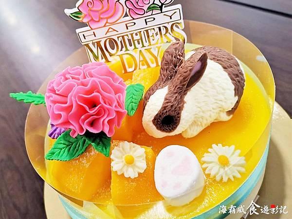 02.花園腳印推出的「兔兔好芒」蛋糕可愛又溫馨(圖片提供海霸威食遊影記)