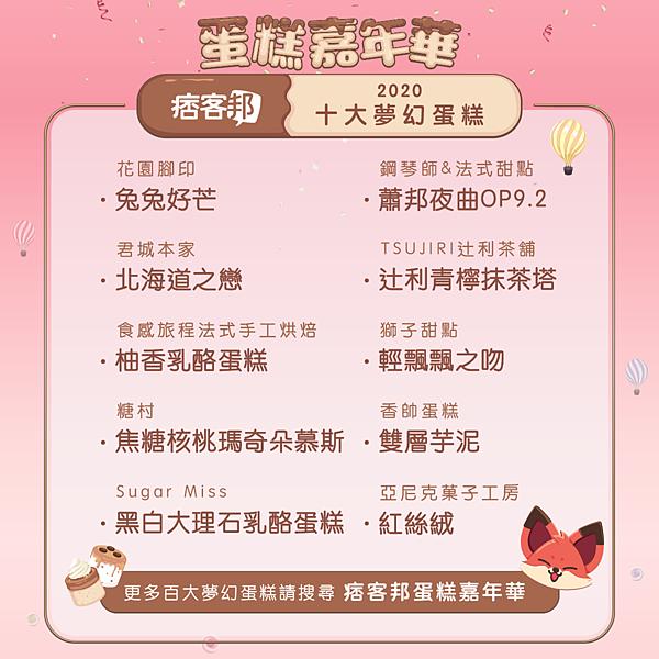 01 痞客邦部落客十大夢幻蛋糕推薦名單